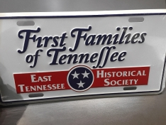 First Families of Tennessee License Plate | East Tennessee